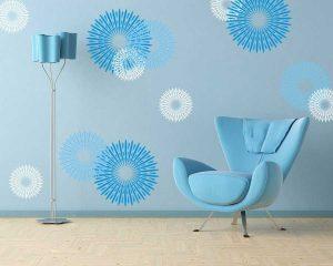 کاغذ دیواری آبی